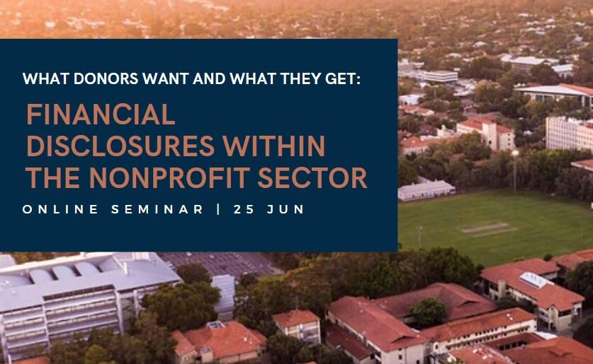 Seminar | What donors want and what they get: Financial disclosures within the nonprofit sector