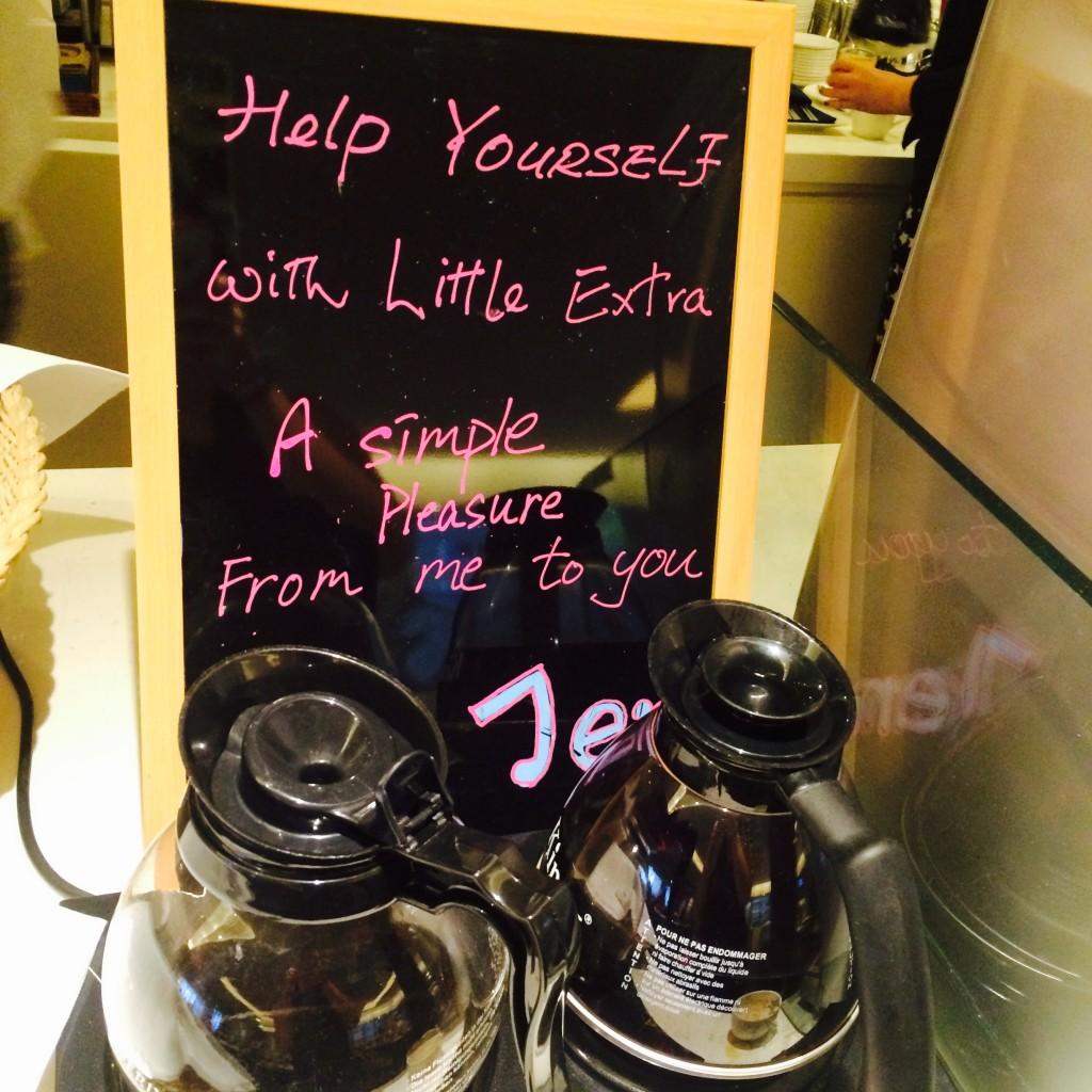 Coffee, thanks Jen!