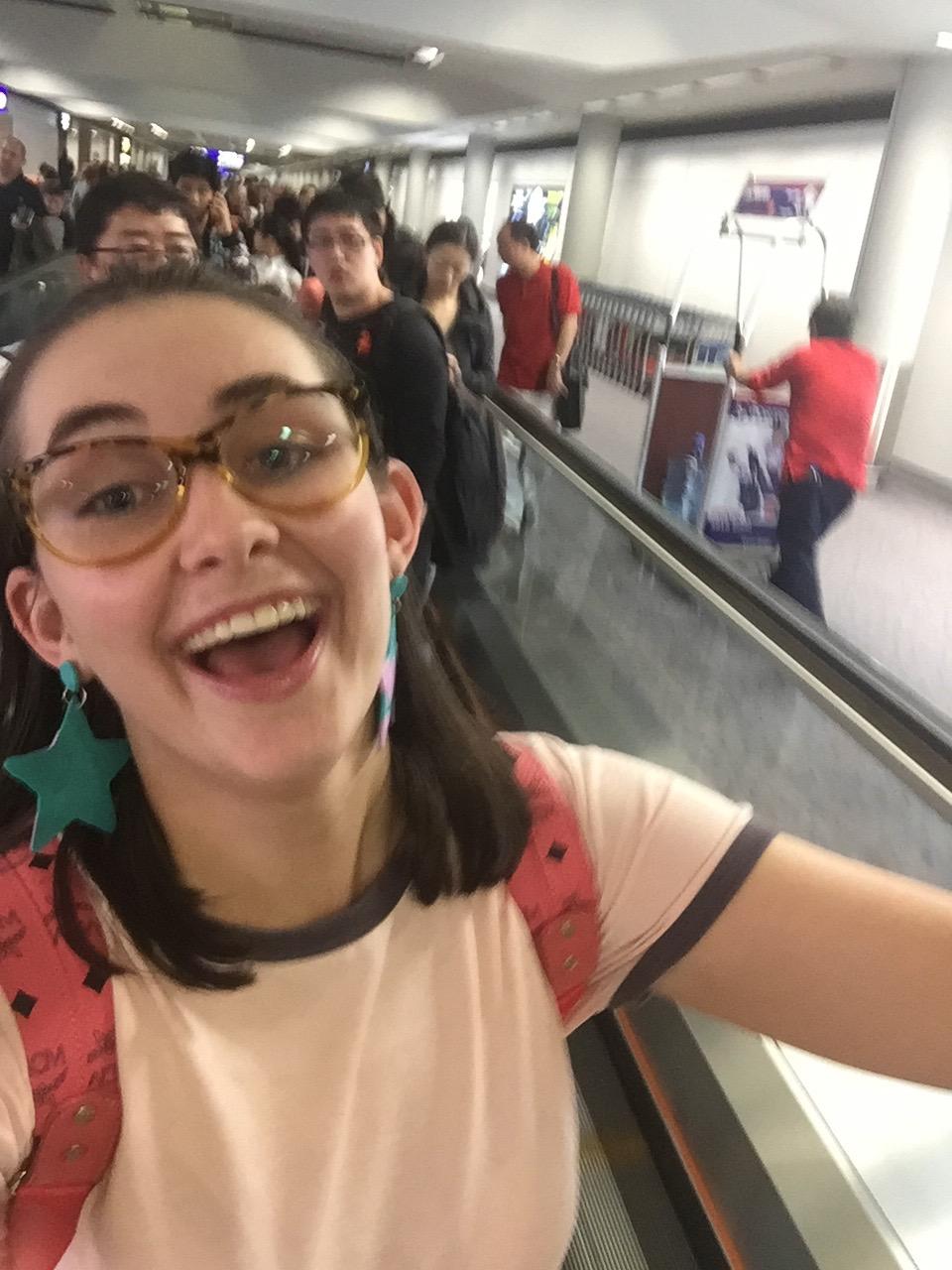 Airport selfies