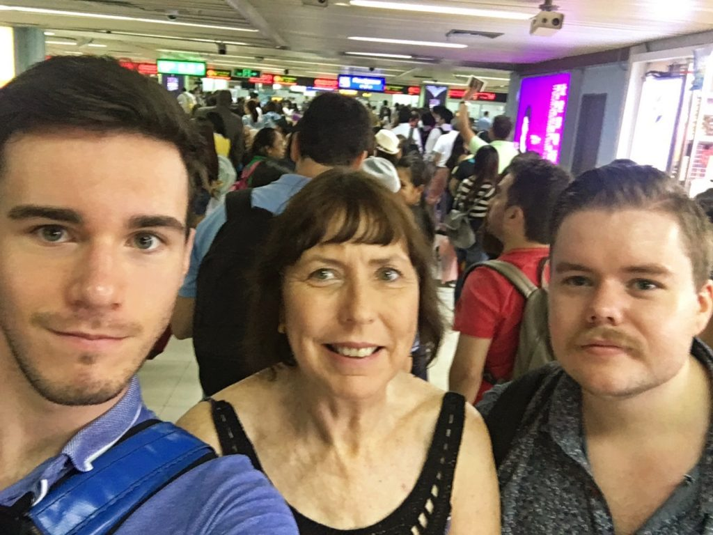Even selfies through customs were allowed
