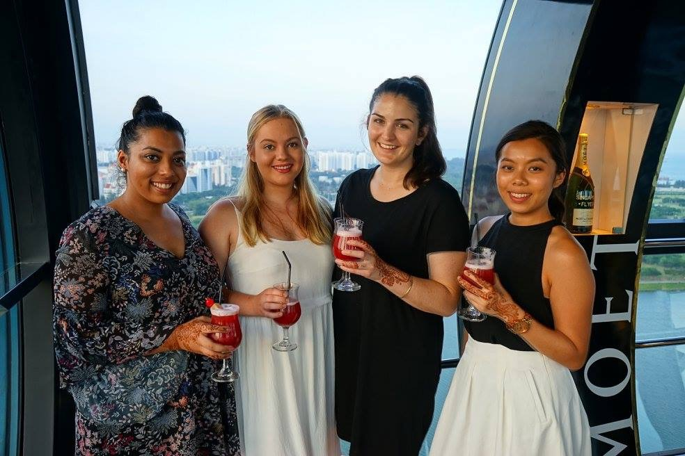 QUT students in Singapore
