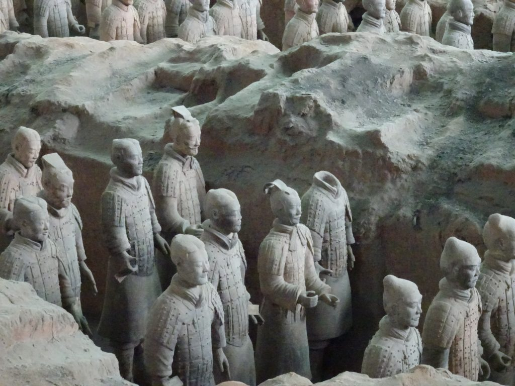 Terracotta Army inside the Qin Shi Huang Mausoleum, 3rd century BC