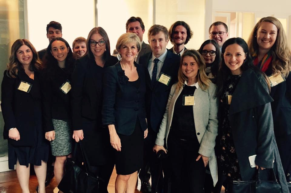Students with Julie Bishop