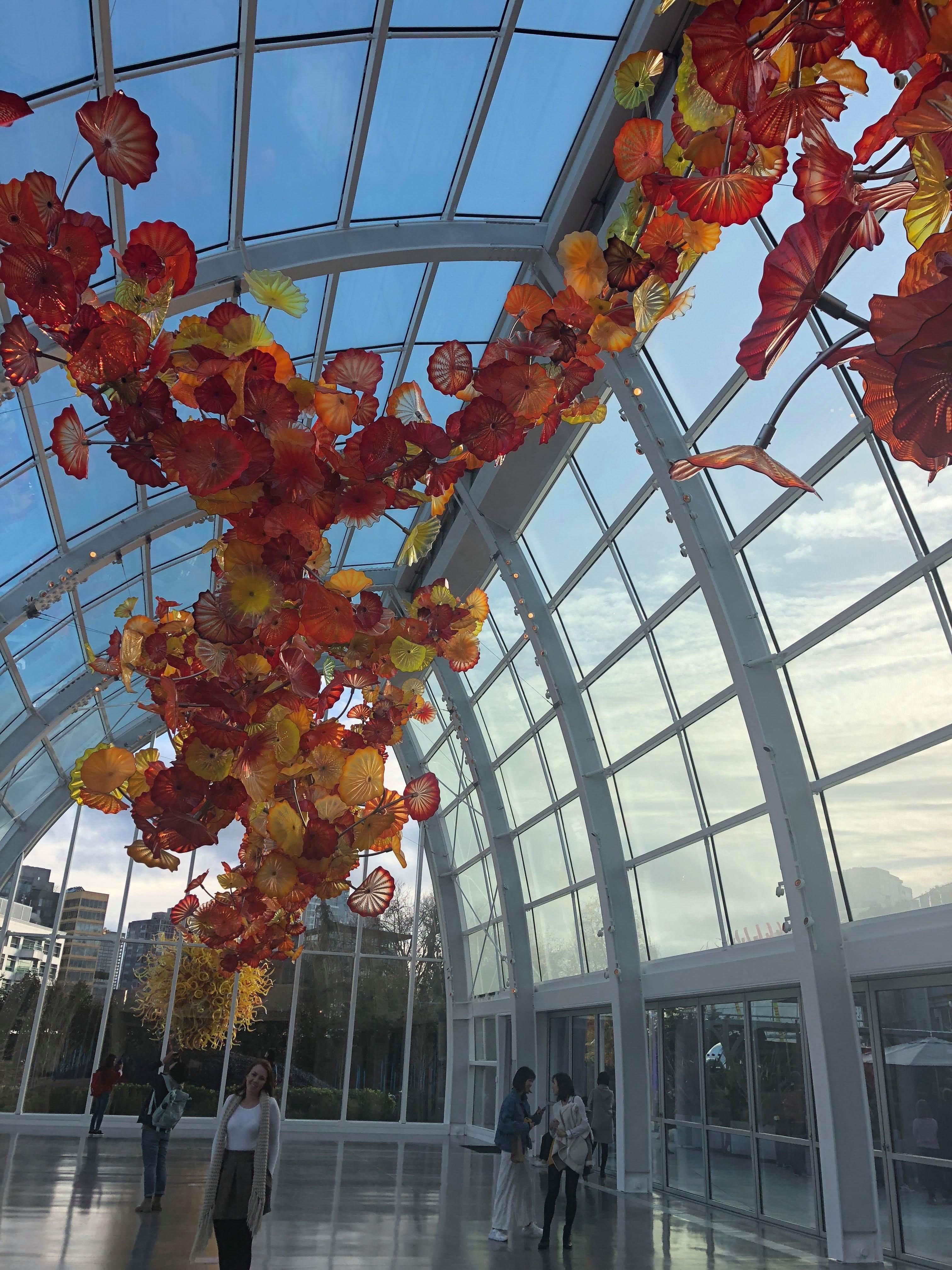 Indoor glass museum