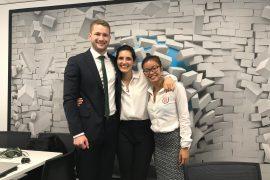 Three students at The Negotiation Challenge, Tokyo