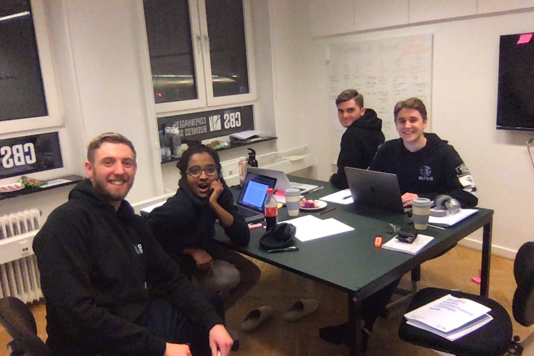 Late night during the CBS International Case Competition