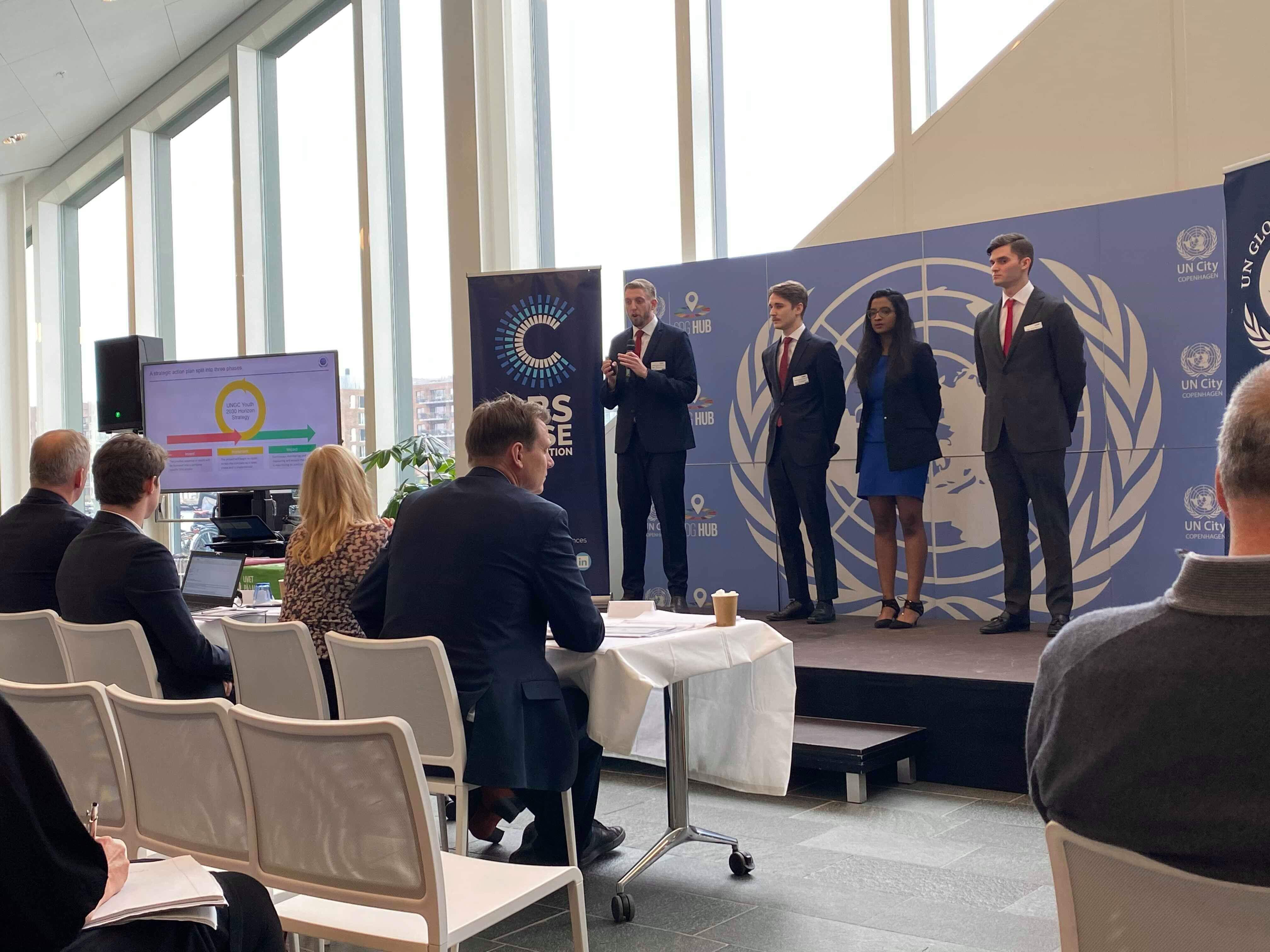 Presenting at the UN Global Compact in Denmark