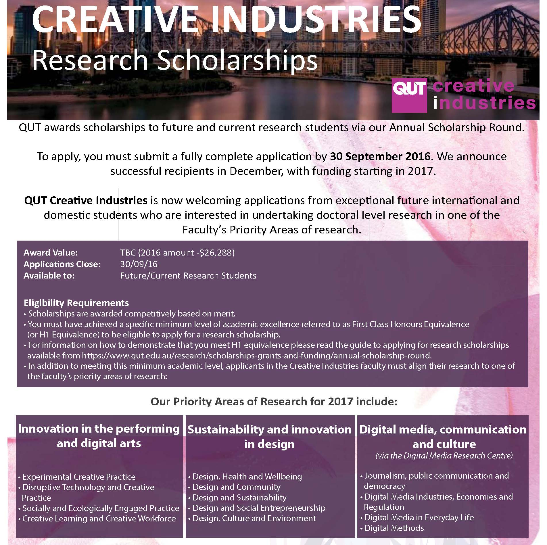 creative industries essay A culture of creativity: design education and the creative industries billy matheson centre for creative industries, wellington institute of technology, wellington, new zealand abstract purpose – the purpose of this paper is to describe the influence of the creative industries on design education in new zealand.