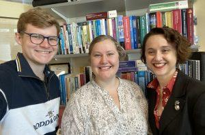 Matthew Cowan, Scarlett Stevens and Dr Lucy Cradduck