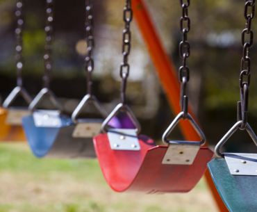 swings in a playground