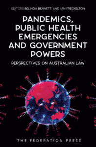Book cover for Pandemics, Public Health Emergencies and Government Powers