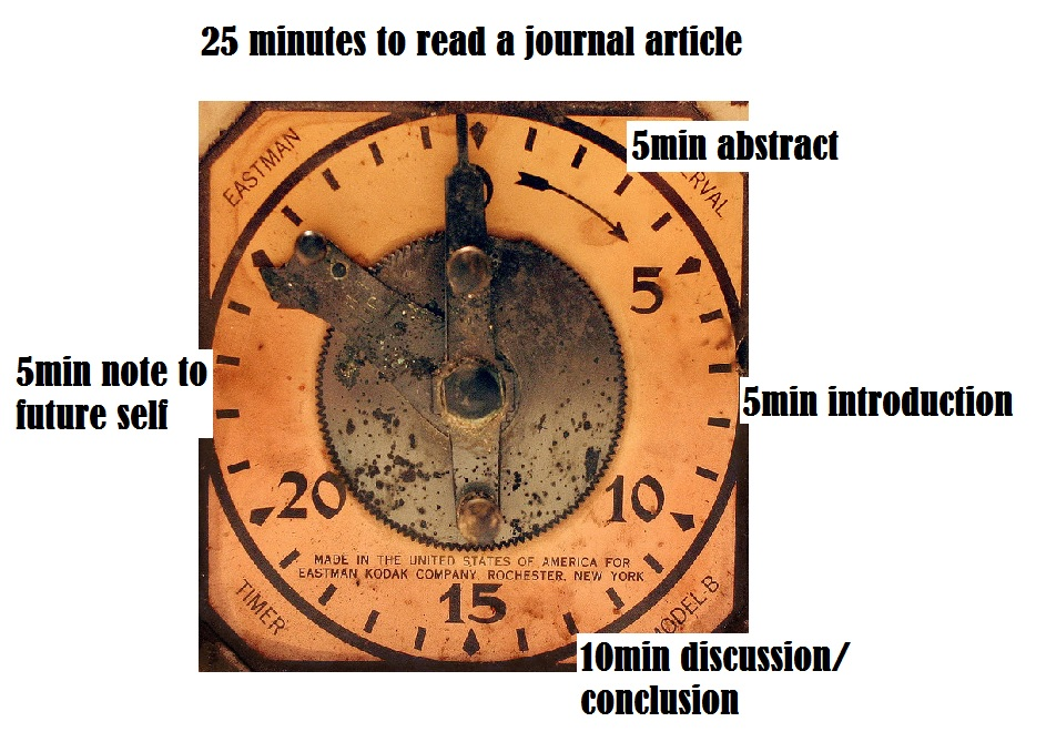 25 minutes to read a journal article