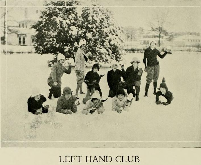 Yearbook photo of the Left-Hand club, 1926 by North Carolina Digital Heritage Center (CC BY-NC-ND 2.0)