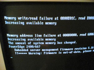 """Memory write/read failure"" by  Marek Isalski (CC BY-SA 2.0)"