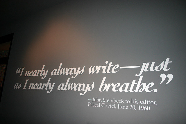'Writing = Breathing' by Joe Flood (CC BY-ND 2.0)