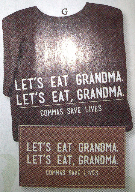 Kommas retten Leben! (Commas save lives!) by  Peter Ihlenfeld  (CC BY-NC-SA 2.0)