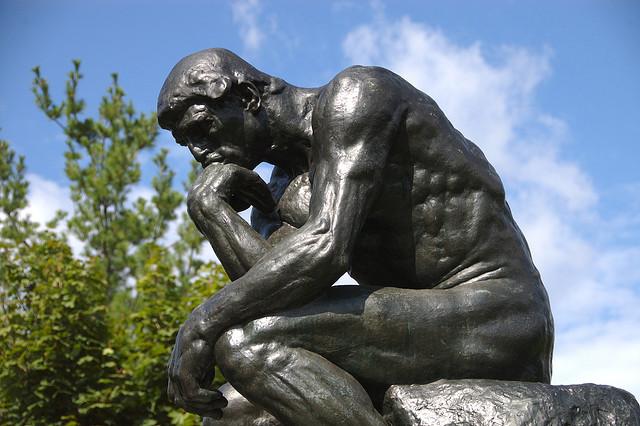 'Rodin's Thinker' by  Steven Fettig (CC BY-NC-SA 2.0)
