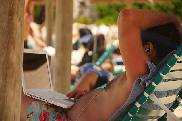 Movies on the beach anyone? 'Sunbathing?' by  david reid (CC BY 2.0)