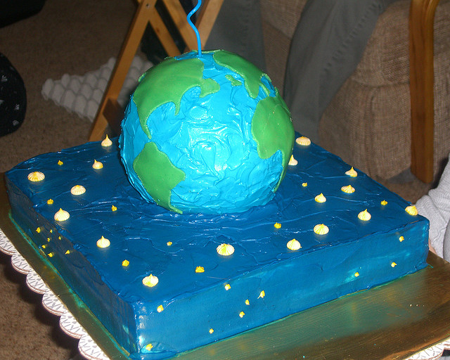 WE can't promise that they'll be cake as GIS Day celebrations. 'Globe Cake' by mary (CC BY-NC-ND 2.0)