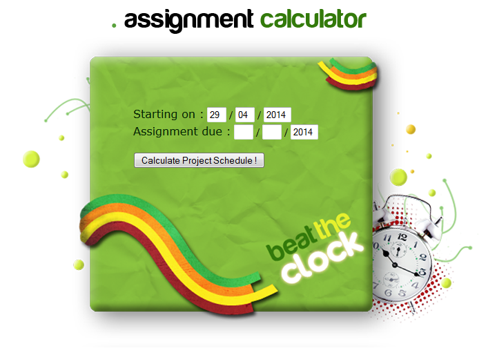 Assignment calculator
