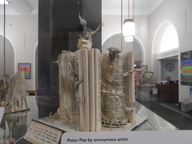 "Here's something print books can do that eBooks can't! ""Book Sculptures"" by  Paradasos  (CC BY-NC 2.0)"