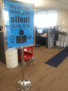 KG Library silent study zone. Level 6.