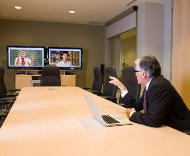 Virtual business meeting