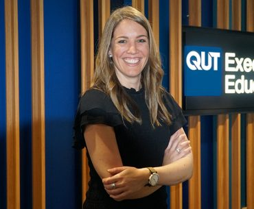 Katie Bickerton at the QUT Executive Education Centre