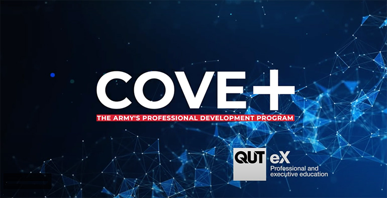 COVE+ and QUTeX logos