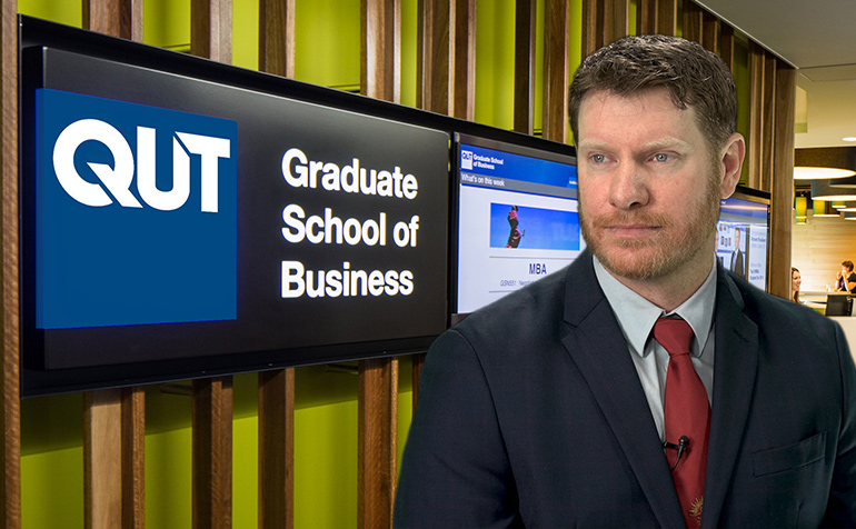 Dan Keighran at the QUT Executive Education Centre