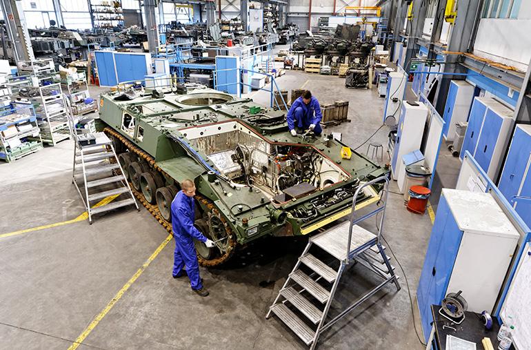 PUMA assembly facility (courtesy Rheinmetall)