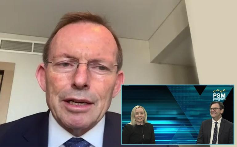 The Hon Tony Abbott with Catherine Batch and Dr Tony Peloso