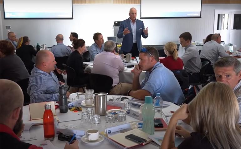 Prof Brett Heyward at the Western Downs Regional Council workshop.