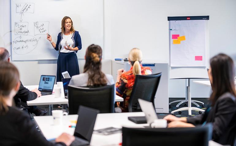 Executive education classroom