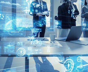 Decorative image of futuristic office