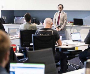 A corporate education class in progress at QUTeX