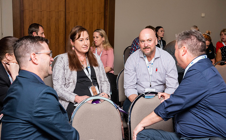 Discussion at the LGMA Conference