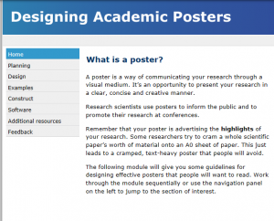 A screen capture of the Designing Academic Posters website