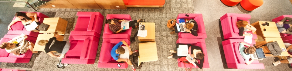 students working at QUT Library
