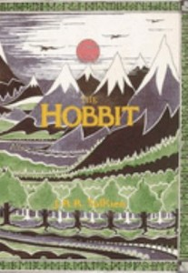 The book jacket of Tolkein's The Hobbit